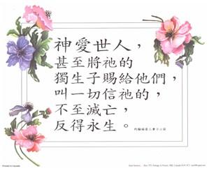 Chinese John 3:16
