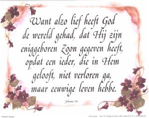 Dutch John 3:16