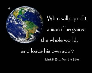 Earth & Space Mark 8:36