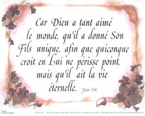 French John 3:16