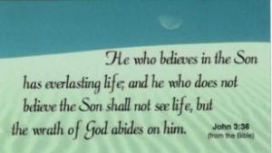 John 3:36 Scripture Magnet