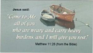 Matthew 11:28 Boat Magnet