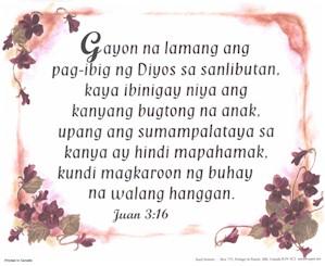 Tagalog John 3:16