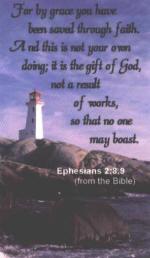 Eph 2:8-9 Lighthouse Scripture Magnet