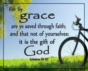 Ephesians 2:8 Text, Bike design