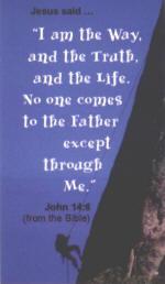 John 14:6 Rock Climber Magnet