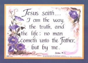 John 14:6, 5x7 blue border