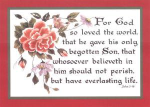 John 3:16, 5x7, border
