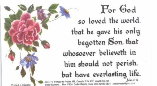 Magnet John 3:16 -2